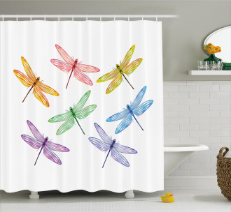 Fantasy Bugs Pattern Shower Curtain