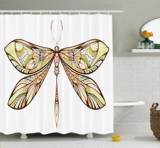 Colorful Bug Design Shower Curtain