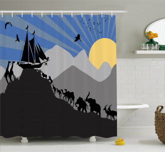 Pair of Creatures Ark Shower Curtain