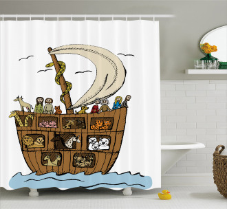 Ancient Flood Story Shower Curtain