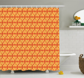 Floral Modern Mosaic Shower Curtain
