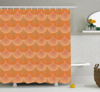 Optic Circles Graphic Shower Curtain