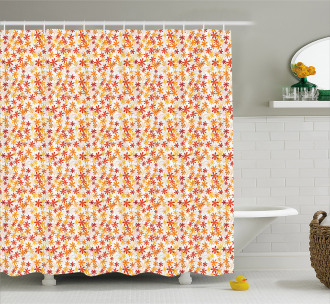 Fall Nature Blossoms Shower Curtain