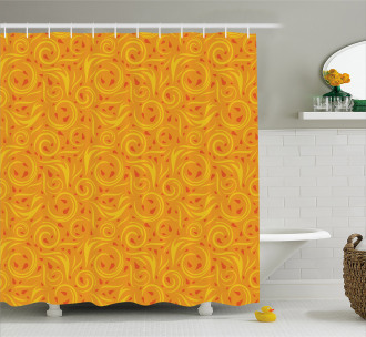 Swirling Autumn Leaves Shower Curtain