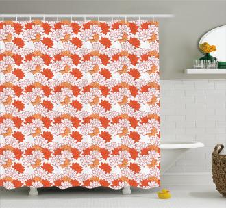 Lily Zen Garden Shower Curtain