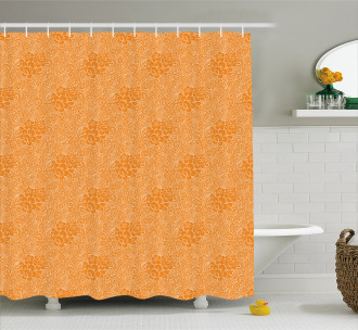 Rococo Floral Foliage Shower Curtain