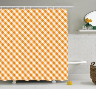 Gingham Checks Shower Curtain