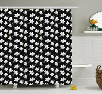 Countryside Flowers Shower Curtain