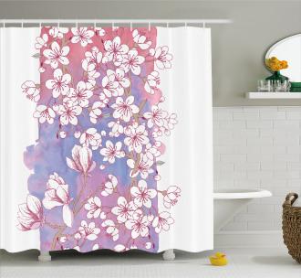 Japanese Spring Bloom Shower Curtain