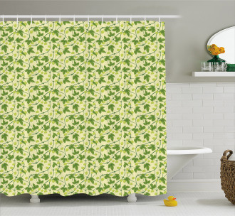 Medical Hop Plant Outdoors Shower Curtain