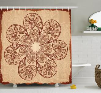 Circles Zentangle Shower Curtain