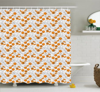 Silhouette Juicy Slices Shower Curtain