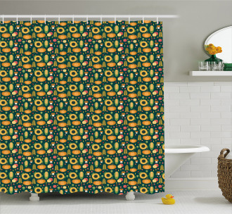 Harvest in Fall Season Shower Curtain