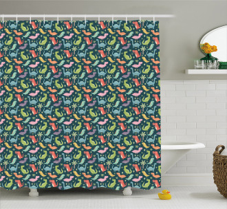 Colorful Jungle Shower Curtain