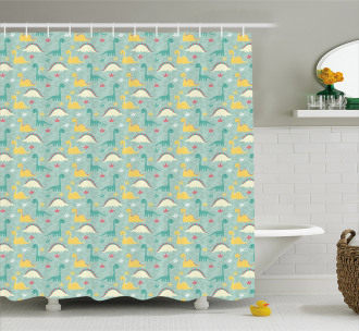 Childish Cartoon Shower Curtain