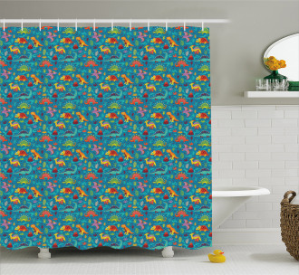 Prehistoric Period Shower Curtain