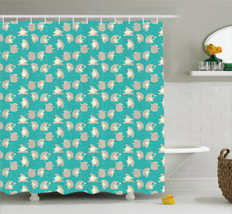 Funny Animals and Bees Shower Curtain