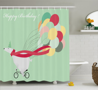 Happy Birthday Party Shower Curtain