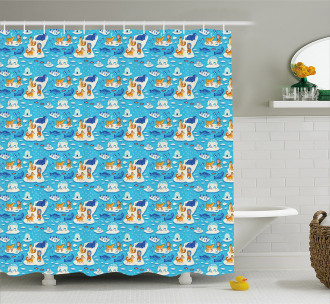 North Pole Icy Ocean Shower Curtain