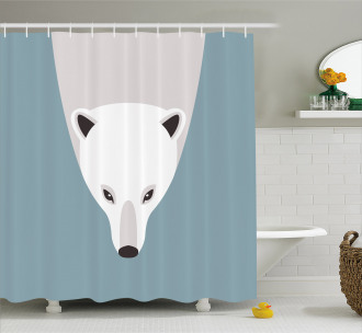 Artistic Flat Design Shower Curtain
