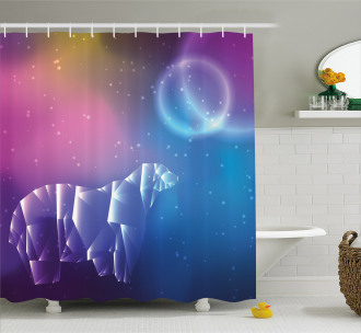 Space Stars Planets Shower Curtain