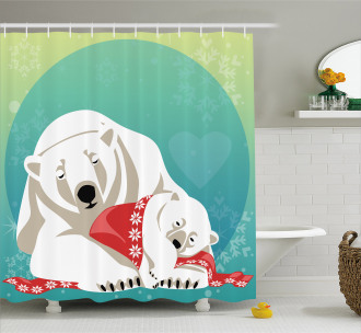 Parenthood and Xmas Shower Curtain