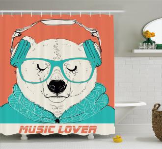 Music Lover Animal Shower Curtain
