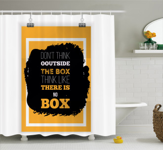 Creative Thinking Shower Curtain
