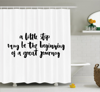 Little Step Great Journey Shower Curtain
