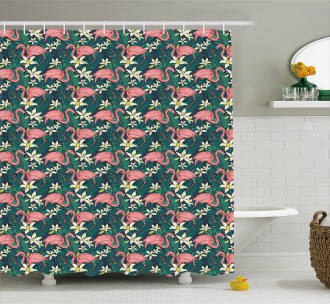 Tropic Nature Wildlife Shower Curtain