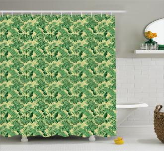 Brazil Forest Foliage Shower Curtain