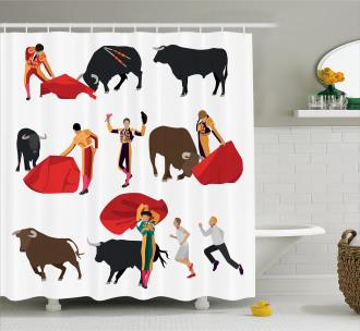 Corrida Matador Cape Shower Curtain