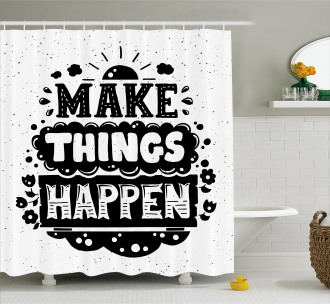 Hipster Phrase Shower Curtain