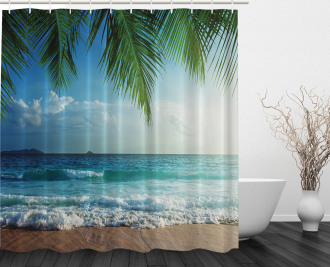Palms Tropical Island Shower Curtain
