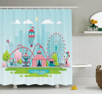 Urban Landscape Shower Curtain