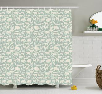 Fauna from the World Shower Curtain
