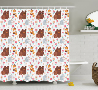 Mothers Day Baby and Mom Shower Curtain