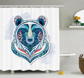 Ornamental Tribal Face Shower Curtain