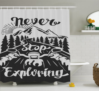 Road to the Mountains Shower Curtain