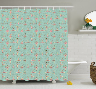 Ballerinas in Various Poses Shower Curtain