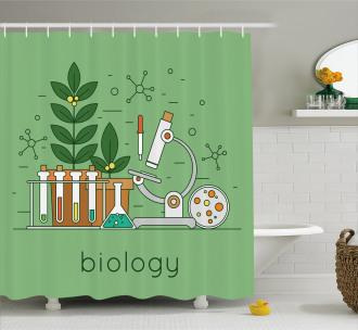 Biology Laboratory Workspace Shower Curtain