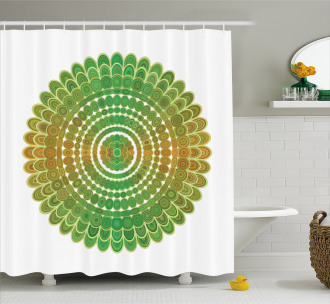 Circle Scale Pattern Shower Curtain