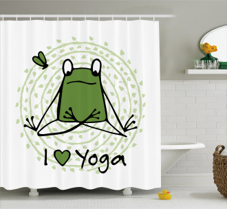 I Love Yoga Quote Shower Curtain