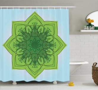 Sketch Asian Flower Shower Curtain