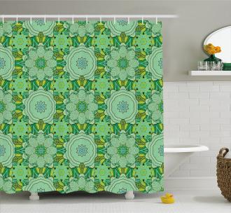 Kaleidoscopic Eastern Shower Curtain