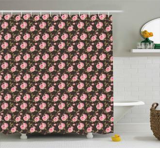 Gentle English Rosebuds Shower Curtain