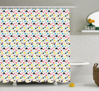 Fantasy Jurassic Grunge Shower Curtain