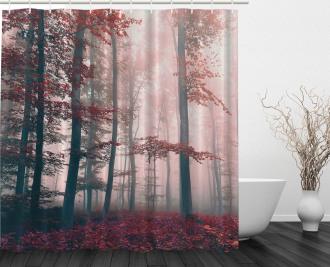 Autumn Fall Nature Woods Shower Curtain