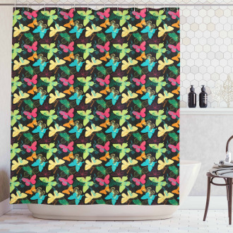 Colorful Silhouettes Art Shower Curtain