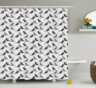 Greyscale Animal Silhouettes Shower Curtain